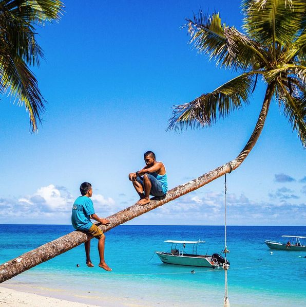 Just hanging out!  Taken at Fiji Beachouse, on Fiji's Coral Coast. #Fiji #Ocean #Paradise