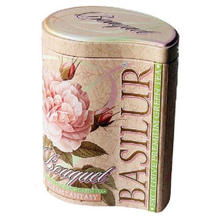 Rigtig sød te dåse med flot motiv. Teen er også rigtig lækker. Fra Basilur Tea.