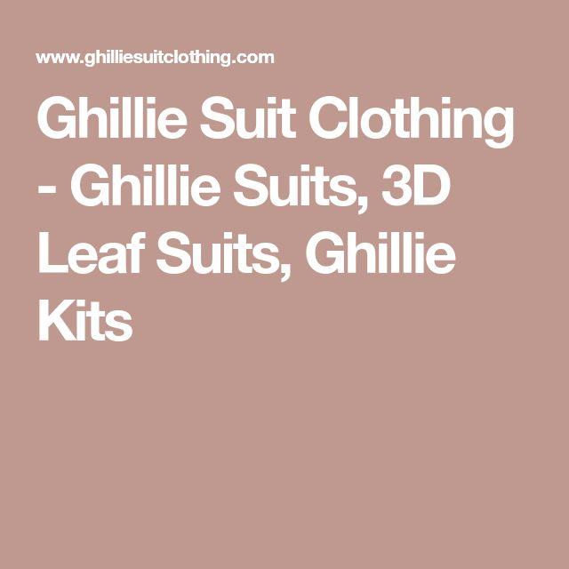 Ghillie Suit Clothing - Ghillie Suits, 3D Leaf Suits, Ghillie Kits