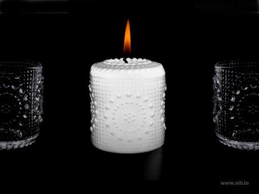 #grapponia #candle Aihion valkoinen Grapponia kynttilä. Riihimäen Lasin designklassikot palaavat kynttilöinä.