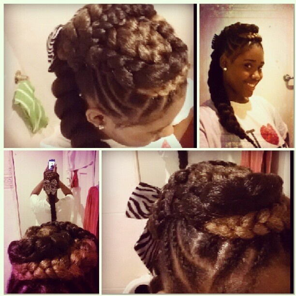 I did this  #narural#curly#hair#protectivestyles#long#mohawk#braids#styles  #weave#works#miracles#cornrows  #pretty#cute#me#follow#tag#like  #comment#smooches - @teetee4ever- #webstagram