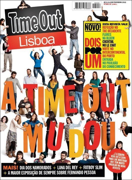 """Cover for Time Out Lisboa - Redesign issue - number 228. The idea was to present the whole team along with the magazine's new design. Almost like: """"This is us, this is the magazine we make every week for you and we are proud of it. Enjoy!"""""""