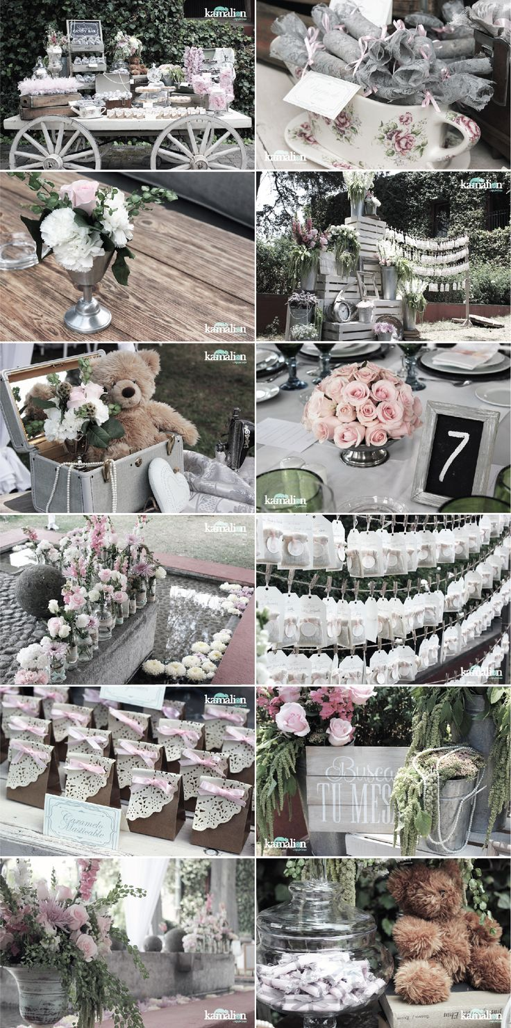 www.kamalion.com.mx - Boda / Wedding / Vintage / Rustic / Menta Gris / Mint Gray / Decoración / Decor / Candy Bar / Centros de Mesa / Centerpiece