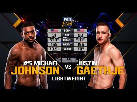 Fight Night Lincoln Free Fight Justin Gaethje Vs Michael Johnson With Images Michael Johnson Justin Michael
