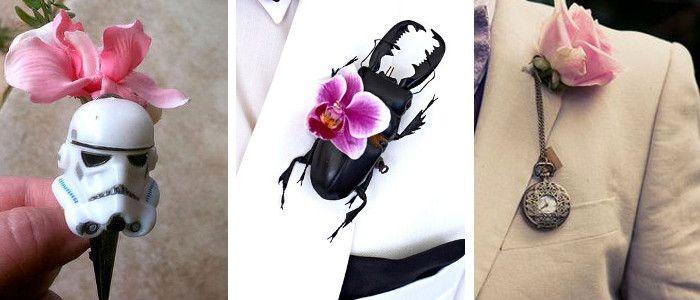 Wedding Magazine - 10 alternative buttonhole ideas for him