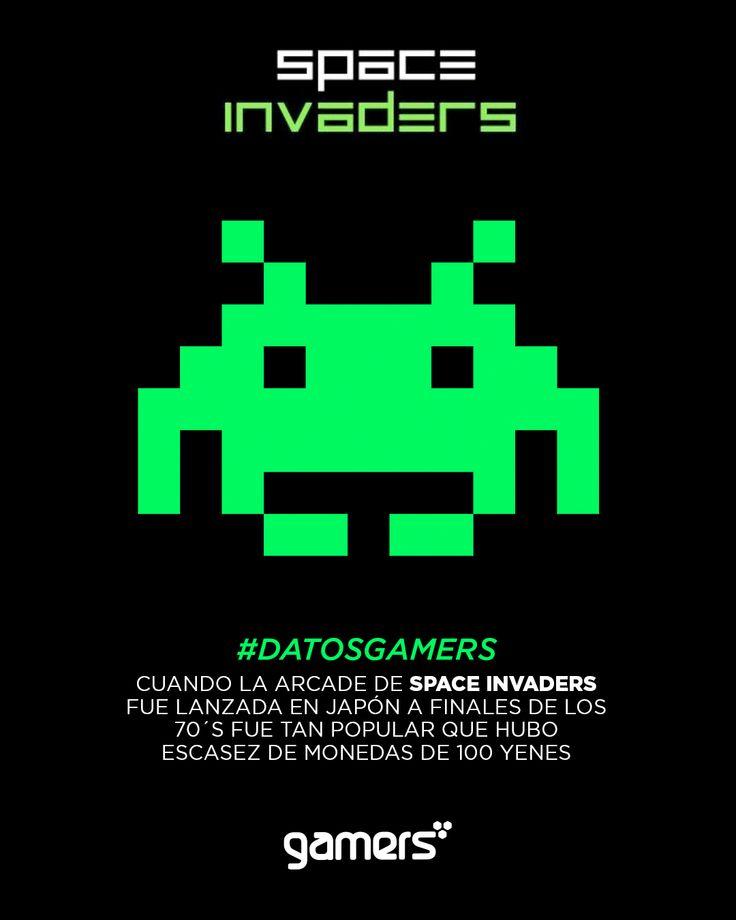 Cuando la Arcade de Space Invaders fue lanzada en Japón a finales de los 70´s fue tan popular que hubo escasez de monedas de 100 yenes #DatosGamers