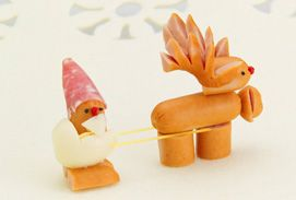 日本ハム | ウインナーの飾り切り - サンタクロース