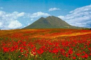 Il monte Soratte che si erge solitario nella pianura del Tevere...Tuscia viterbese..