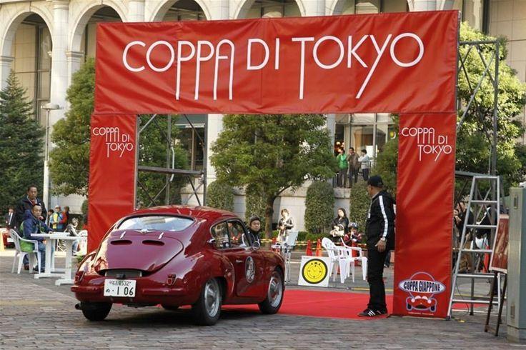 Coppa di Tokyo 2014, Mr. Katsuhiro Yoshida and Mr Simon Yoshida driving historic car 1950 SIATA 750 SMM awarded with Cuervo y Sobrinos Historiador Racing.