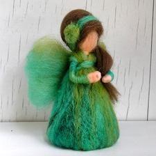 Handmade fairy - Handmade víla z vlny #handmade #fairy #wool #decoration #modrykonik