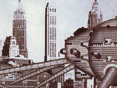 Archigram - 1964 Ron Herron - Concept Walking City = La ville vue comme un organisme [prédateur] en marche..
