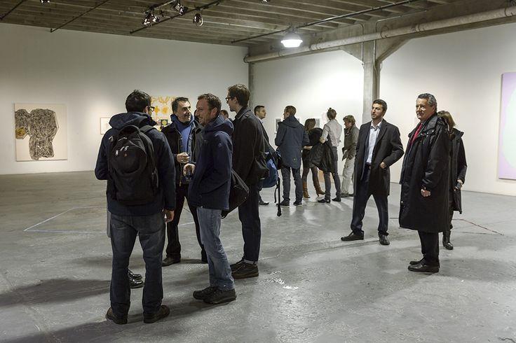Vernissage de l'exposition collective FABRICATIONS présentée dans Griffintown à Montréal, à laquelle participait Mathieu Lévesque.   Crédit photo : Guy L'heureux