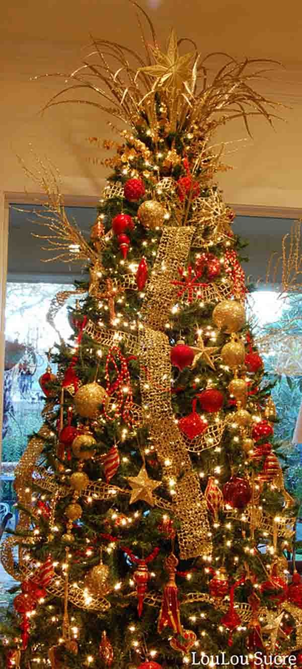 Gold and red christmas decorations - Gold Christmas Decoration Ideas