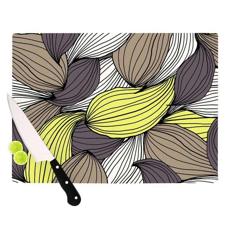Kess InHouse Gabriela Fuente 'Wild Brush' Cutting Board