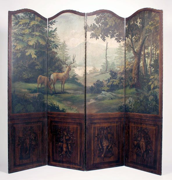 Hand-painted room-divider screen by Raymond Goins. Every single thing on his website is exquisite.