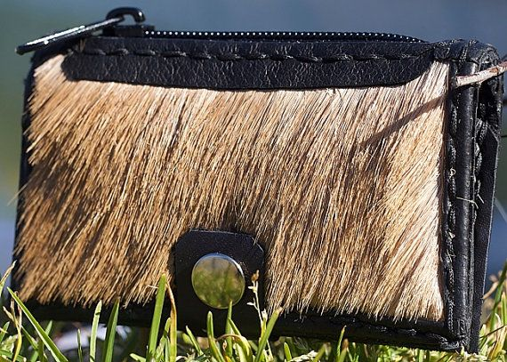 Springbok fur Coin Purse by DEADSKIN on Etsy