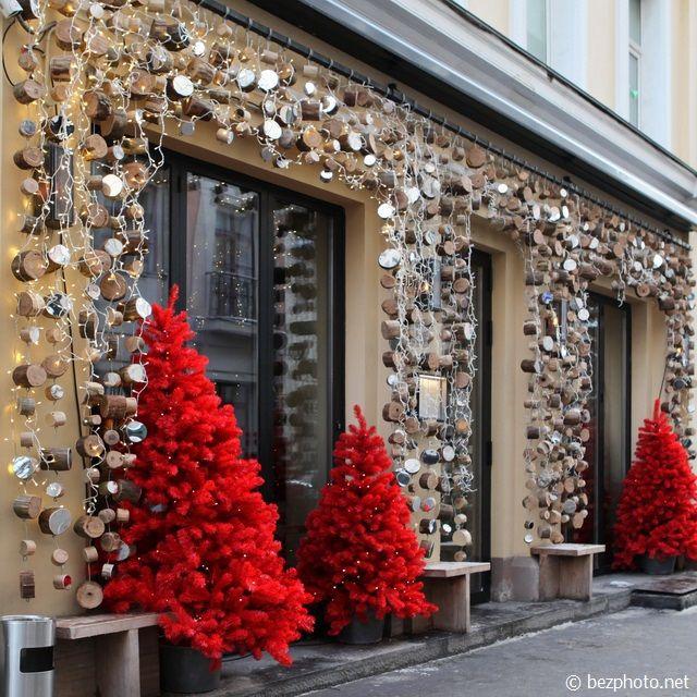новогодний декор фасада