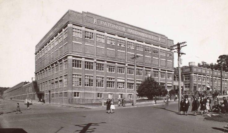 Coats Patons factory. Thistle Street Launceston Tasmania.