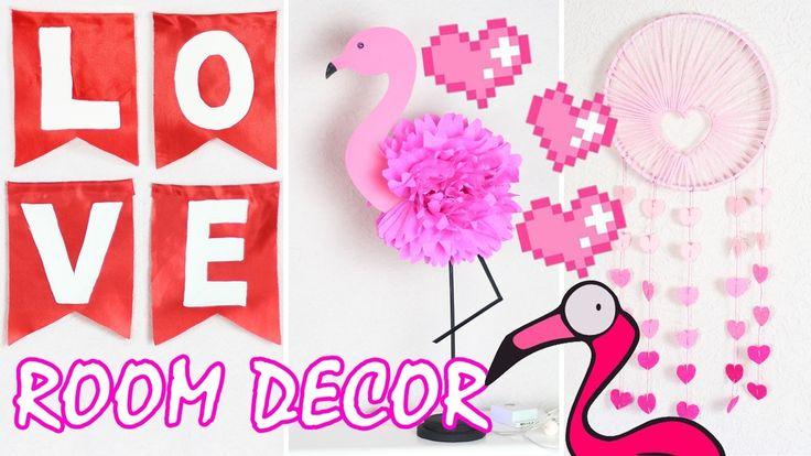 DIY ROOM DECOR. Декор комнаты на День Влюбленных. Украшение комнаты. Бюджетный декор