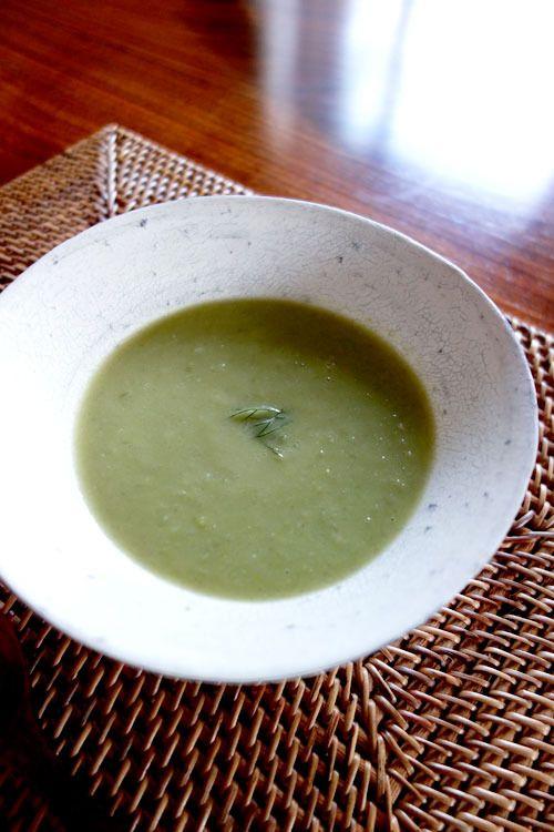 ◇空豆と新玉ねぎのスープ◇