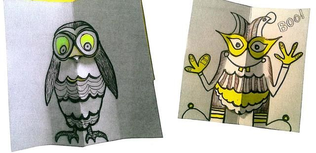 owl and monster