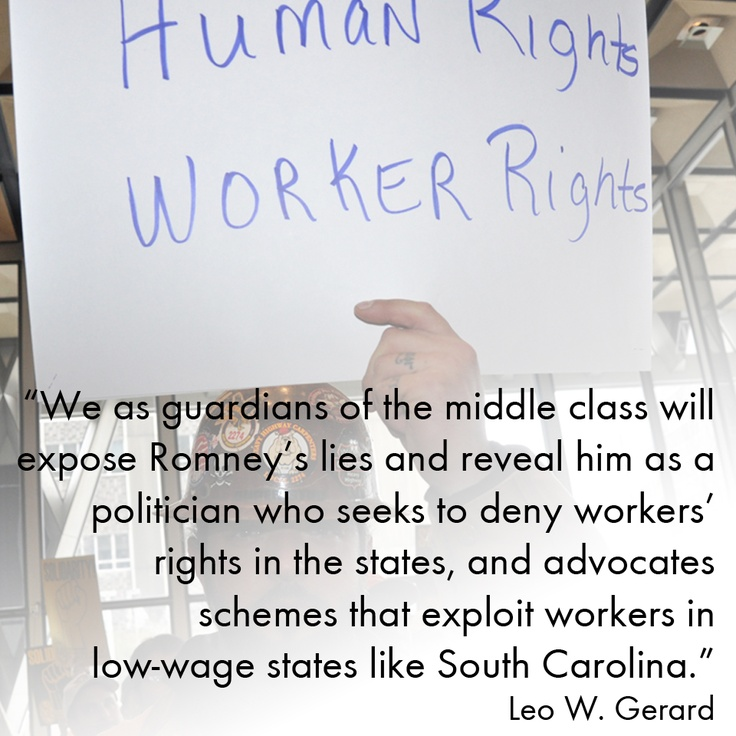 #ECONOMY:  Leo W. Gerard, president of the USW, was critical of Republican Presidential Candidate Mitt Romney's dishonest attack on President Obama and American labor unions in remarks he made at the Lansing Community College.  Read the whole story here: ow.ly/aO7zg.
