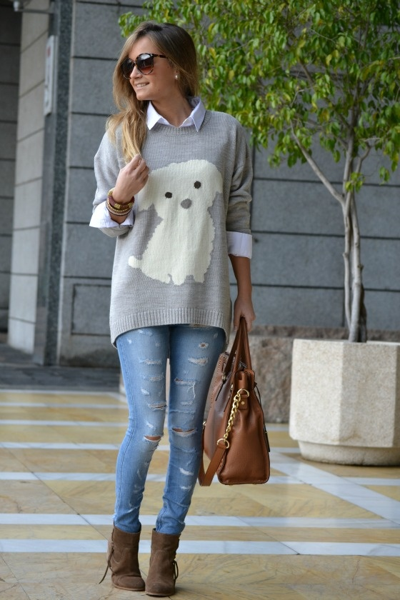 Oysho bloggers: Iria Love the sweater