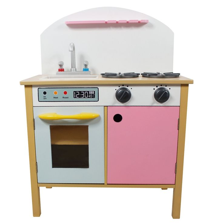 Teamson Kids Pink Play Kitchen with Dual Doors - TD-11415A
