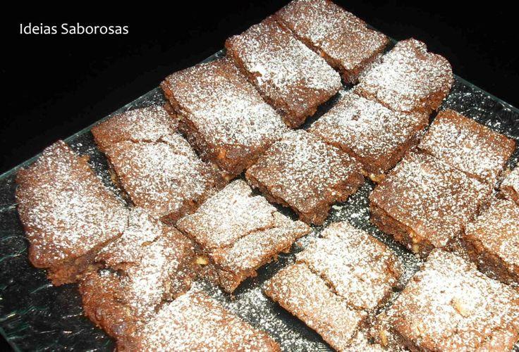 Brownies de Chocolate com Amêndoas