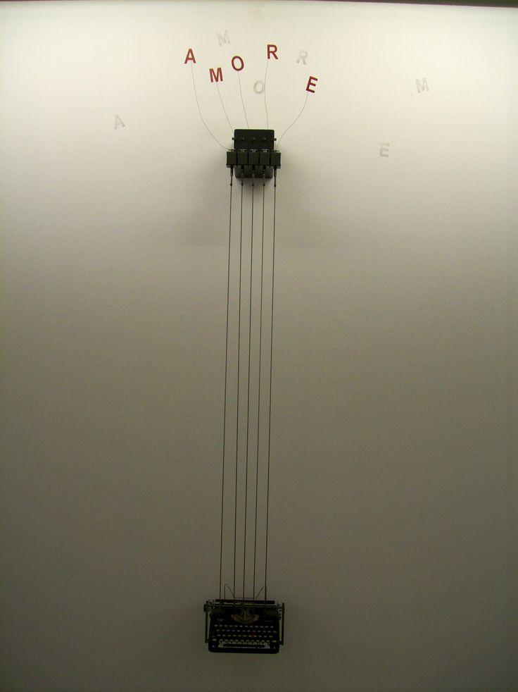 """Rebecca Horn   Amore-Continental, 1990 [Foto personale della Mostra """"Fata Morgana"""", Fondazione Bevilacqua La Masa, Venezia (2009)]"""