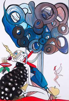 """ERIS"" Oil on Canvas Framed 36"" x 24 "" 2017 #painting #oilpainting #eris #greekgoddess #strife #discord     #symbolism #originalart #mythological #art #artcollecting #artbuyers #artlovers #artcollectors #emergingartist"