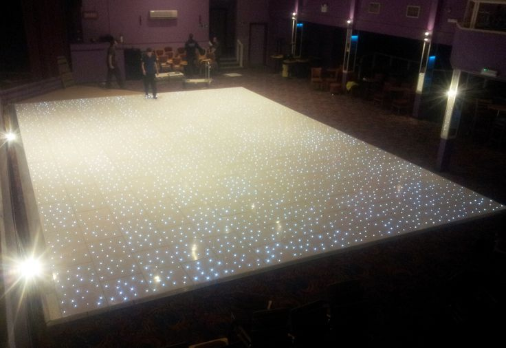 40ft x 30ft white LED starlit dance floor installed by www.24carrotevents.co.uk