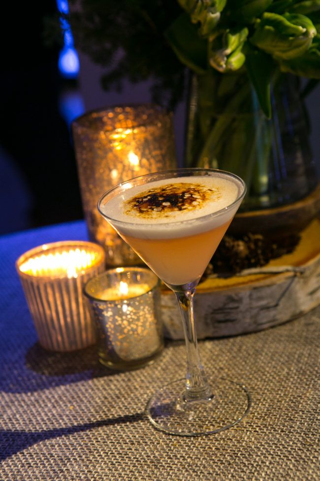 Learn how to make this holiday drink which is perfect for your winter holiday parties! Check out this recipe for Bruleed French Blonde Martini / AllSeated