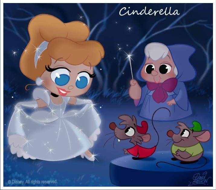 David Gilson's Chibies - Disney Cindrella