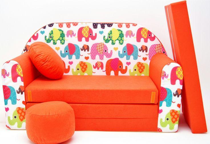 Dětská pohovka vyvedená v krásně pestré oranžové barvě s motivem slonů zapadne do každého pokojíčku či hracího koutku. https://www.banaby.cz/detske-pohovky-a-kresilka/detske-pohovky/p/detska-pohovka-sloni-oranzova/