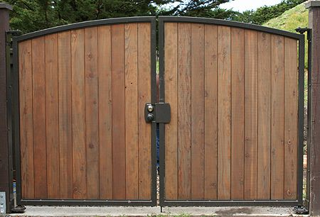 metal and wood gates - Google Search