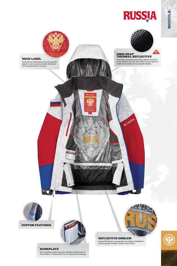 We are proud to unveil the 2014 Olympic uniforms for the U.S., Canadian, and Russian Freestyle Ski teams. Custom designed for each country, the uniforms deliver fresh designs and new technologies developed specifically to meet the needs of these elite athletes when it matters most.
