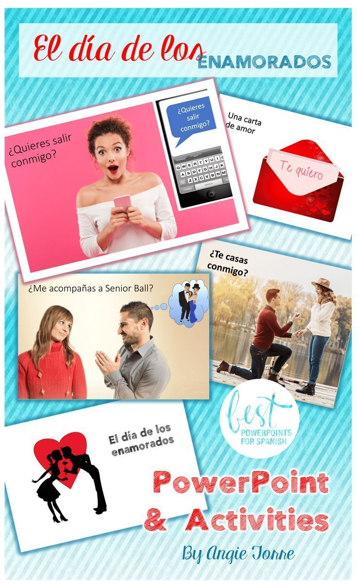 Get students communicating in Spanish about what interests them the most – love, boyfriends and girlfriends, using the vocabulary for Valentine's day. Students move from recognition to production as they listen, read, write, and speak about love and el día de los enamorados. Captivating visuals keep students engaged and speaking in Spanish.  Tons of activities for practice, too!  Take a look! #Eldíadelosenamorados #ValentinesDay #SanValentín #spanishlessonmemes