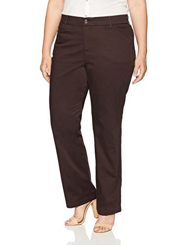 3f0b34f2e567f New LEE LEE Women s Plus Size Flex Motion Regular Fit Straight Leg Pant  Women s Fashion Clothing