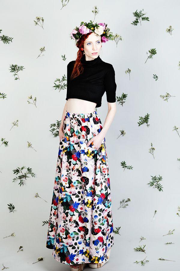 Uhana Design SS16 Summer pattern maxi skirt outfit