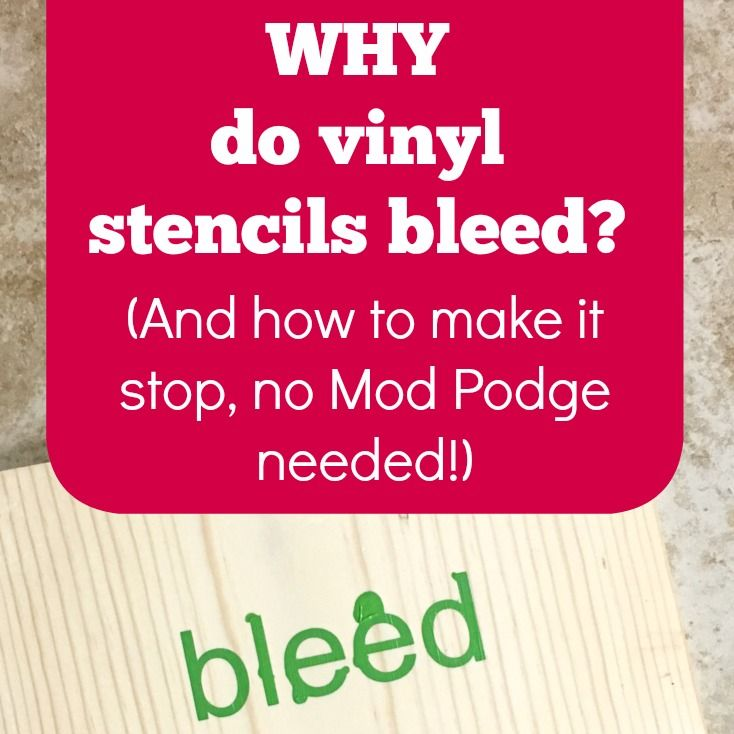 how to keep stencils from bleeding