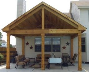 covered deck...maybe something like this for shade & rain...