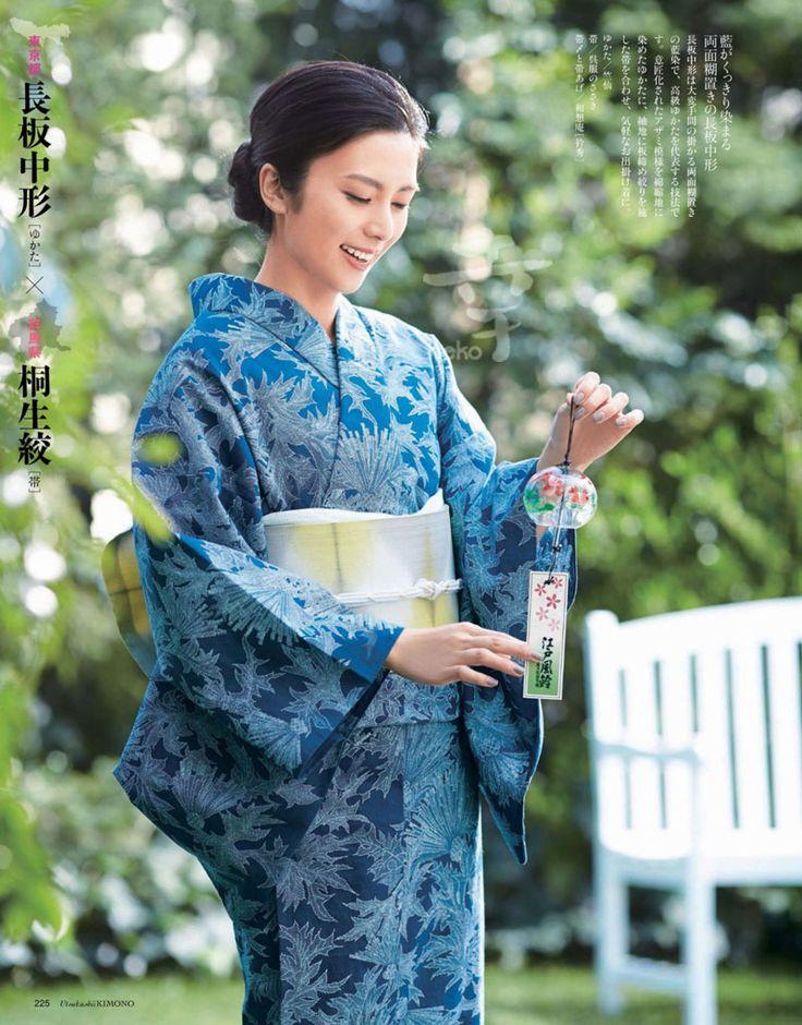 柴咲コウkou_shibasaki / あざみ柄 浴衣 yukata