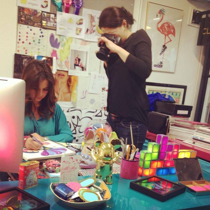 Shooting with Corner magazine in the studio! #shoot #photography #colour #design #magazine