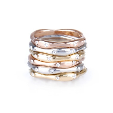 Stackable RingsStackable Rings, Cocktails Rings, Fashion, Crystals Stones, Isabel Jewelry, Sets, Chloe Isabel, Stones Pave, Rose Gold