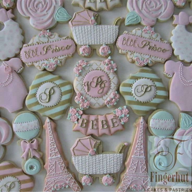 best cookies baby girl images on   baby shower, Baby shower invitation