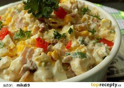 Hermelínový salát s Cottage, vejci a sušenými rajčaty recept - TopRecepty.cz