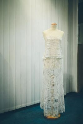 Stunning Handmade Wedding Dress by Marita Wrong, Crochet, Vintage, Unique, White Dress