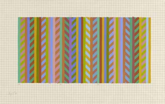 Bridget Riley | Transition [stripe to rhomboid] (1984) | Available for Sale | Artsy