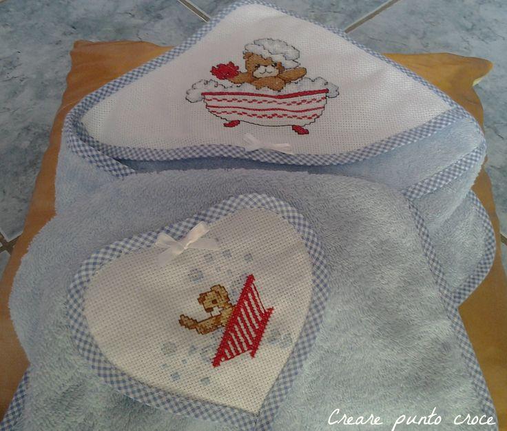 17 Best Images About Asciugamani Punto Croce Towels Cross